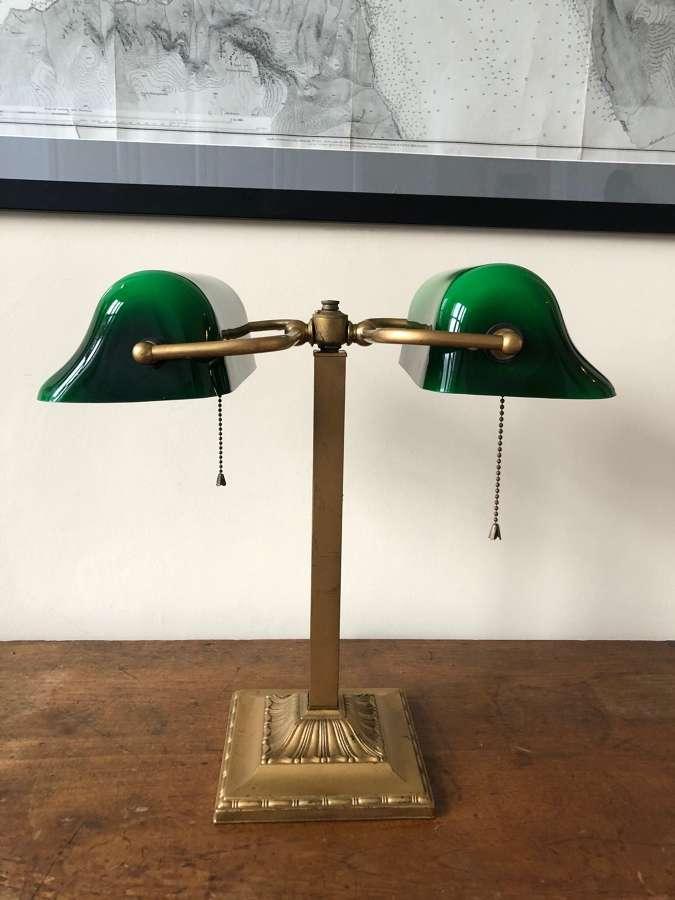 An Art Deco Banker's Lamp