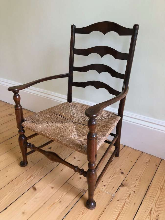 A ladder back chair by Lutyens