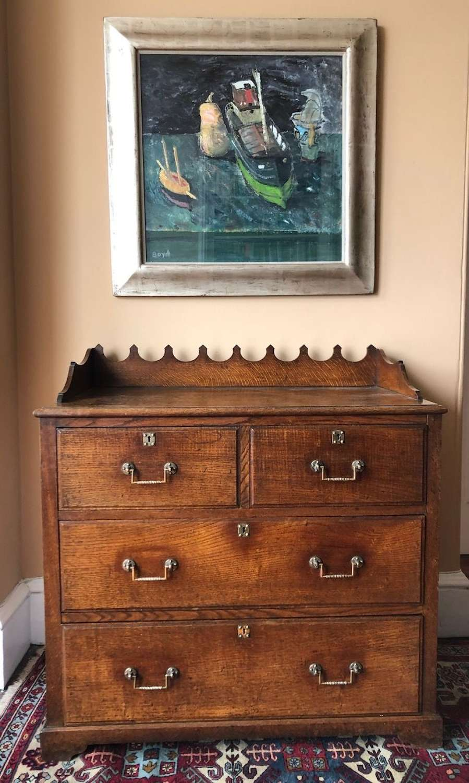 A Victorian oak chest