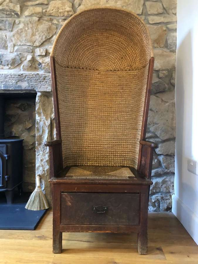 A rare Orkney Hooded Chair