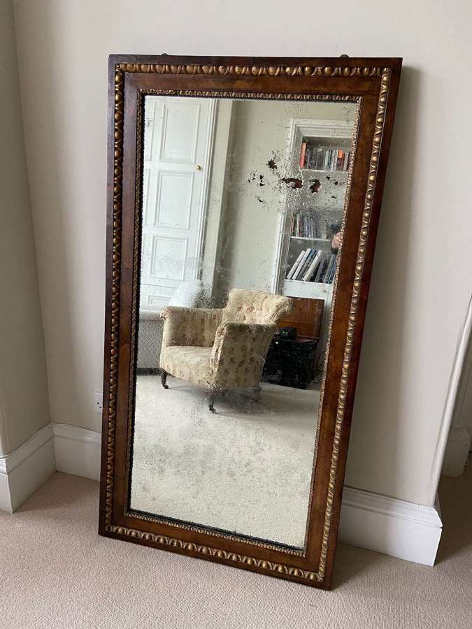 A 19th C walnut mirror