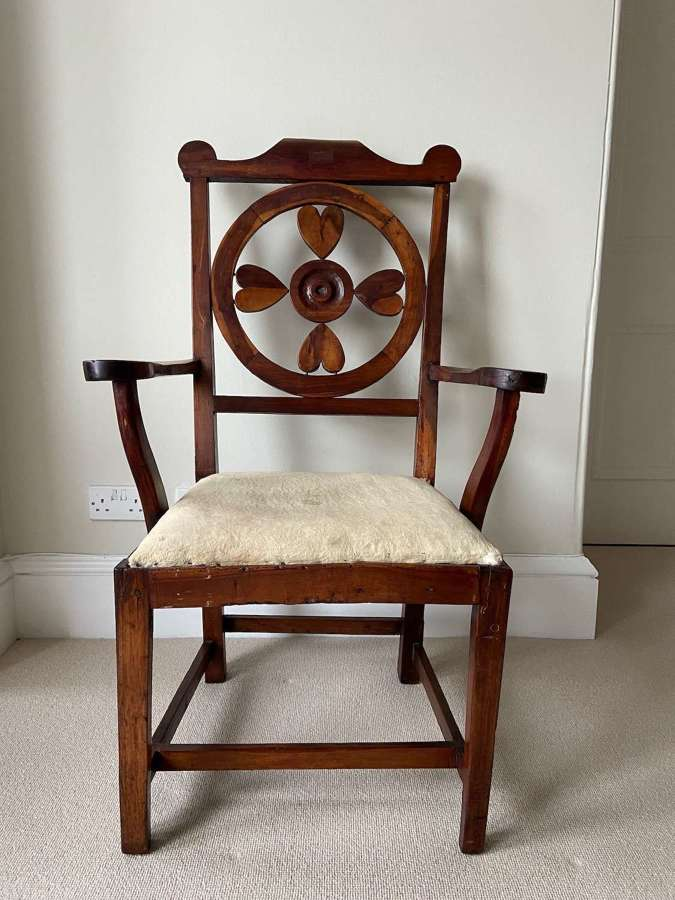 A George III Welsh yew chair