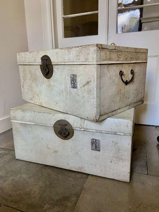 A pair of Chinese trunks