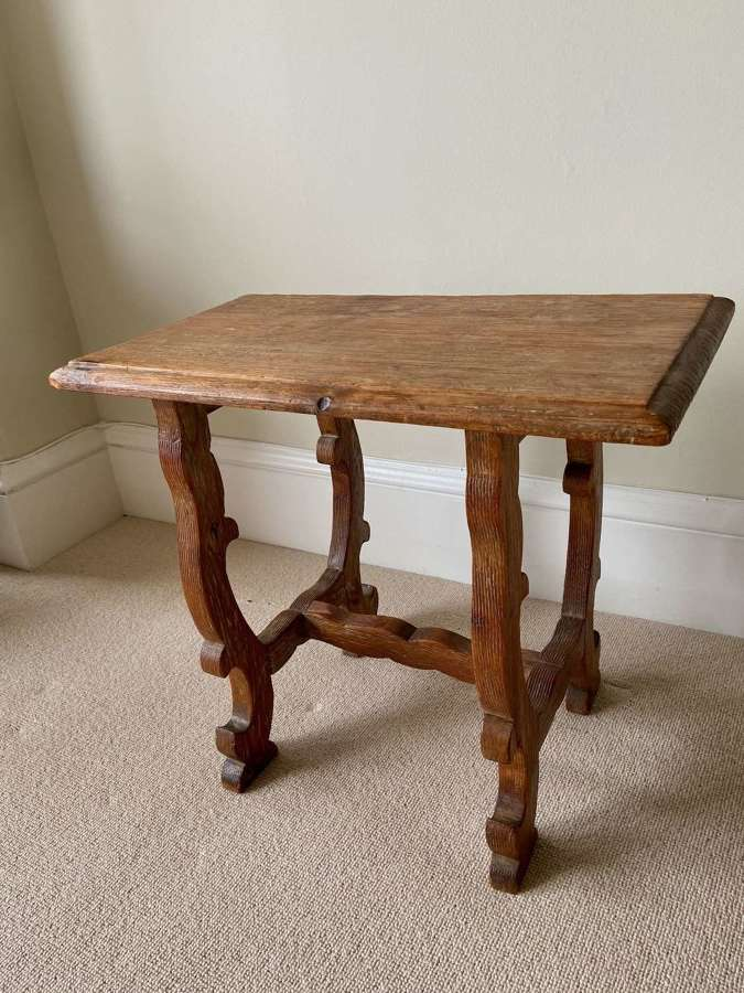 A Limed pine occasional table